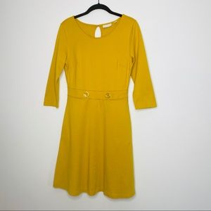 New York & Company mustard yellow a-line dress